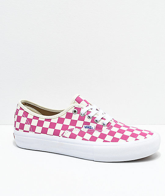 fa090aa3e8d9 VANS Mens Size 13 Authentic Pro Checkerboard Fuchsia SNEAKERS VN0A3479OM2  for sale online