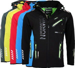 Geographical-Norway-senores-Softshell-chaqueta-Funktions-transitorio-chaqueta-chaqueta-deportiva