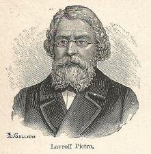 A7311 Pietro Lavroff - Stampa Antica del 1928 - Xilografia