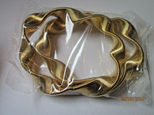 Ärmelhalter goldfarben   Wellen  Paar  unisex ca 1 cm breit