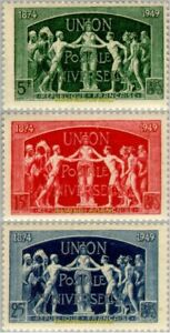 EBS-France-1949-75th-Anniversary-of-the-U-P-U-YT-850-852-MNH