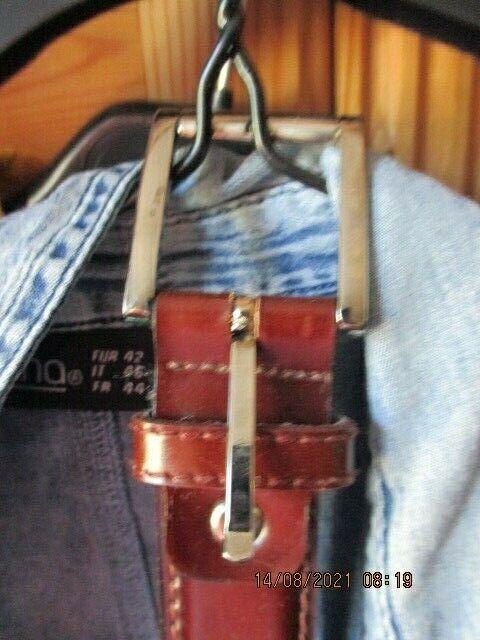Landes Ledergürtel 90cm nicht oft getragen beidseitig vernäht, 3cm breit