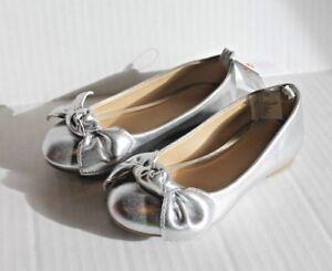 Gymboree Silver Bow Ballet Flats Dress