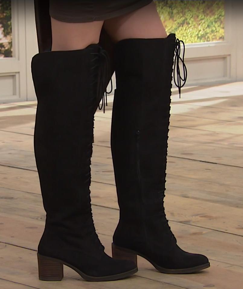 Lucky Brand Riddick OgreenheKnee Boot, Black 6M