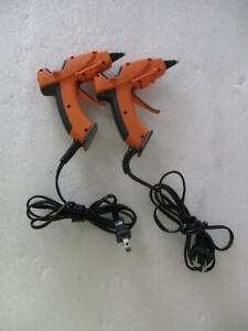 *LOT OF 2* Gorilla Dual Temp Hot Glue Gun, Mini, Orange (B1485)