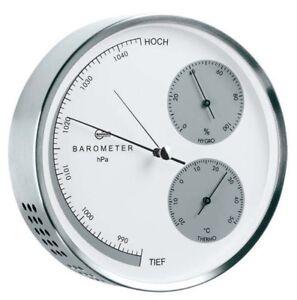 Barigo Nautika & Maritimes Haushalt Wetterstation Edelstahl Baro Thermo Hygro Barometer