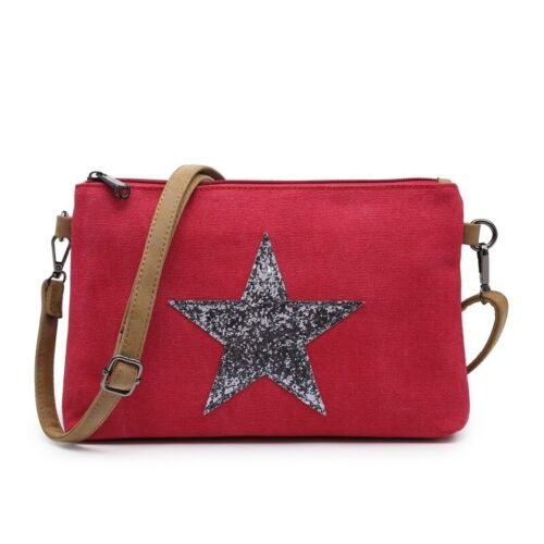 Woman Synthetic Canvas Nice Simple Small Messenger Cross Body Shoulder Star Bag