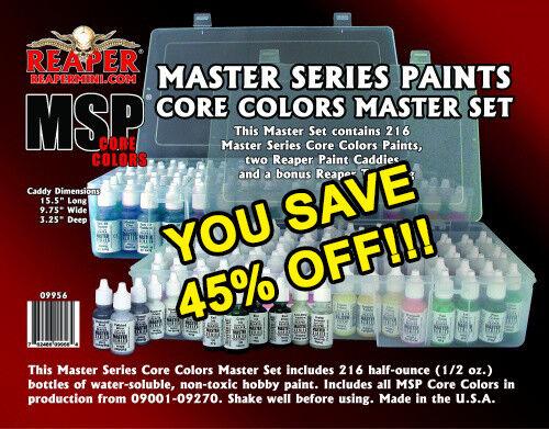 Nuevo conjunto completo de la serie de pinturas Reaper Master 216 09956 Envío Gratuito
