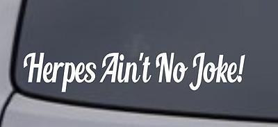 HERPES SURVIVOR Vinyl Decal Sticker Window Wall Bumper Car JDM DOPE FUNNY STD