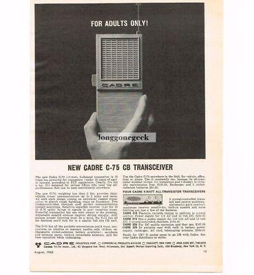 Merchandise & Memorabilia Temperate 1963 Cadre C-75 Cb Radio Transceiver Hand-held Walkie-talkie Vtg Print Ad Elegant Appearance