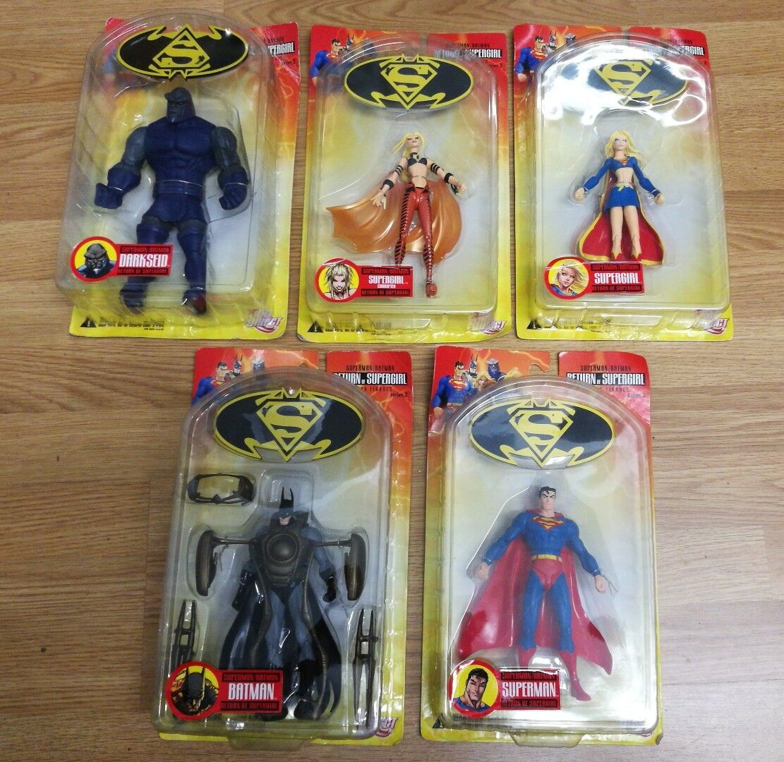 DC DIRECT BATMAN SUPERMAN RETURN OF SUPERGIRL SERIES 2 COMPLETE FIGURE SET