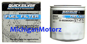 Genuine MerCruiser Fuel//Water Separator Filter 35-802893Q01 Short