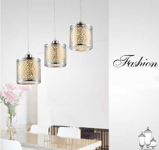 New Simplicity Diameter-45cm Round Crystal + Metal 3 Lights Hanging Light
