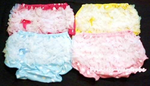 Lot 4 Polka Dots Infant Baby Girl Bloomer Pantie Brief Pant For Pettiskirt 6m-3Y