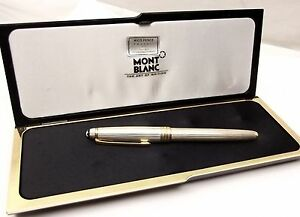 Montblanc-Sterling-Silver-Meisterstuck-Fountain-Pen-4810-18K-Gold-Solitaire