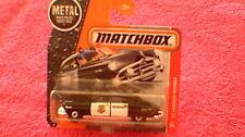 Matchbox (Reino Unido Tarjeta) - 2017 - #57'51 Hudson Hornet Sheriff Coche-Blanco y Negro