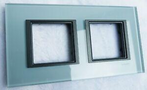 Plaque-de-finition-double-Schneider-Electric-Serie-Unica-Class-Annees-2000