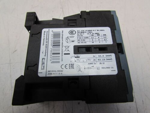 SIEMENS SIRIUS 3RT2016-2BB42 CONTACTOR 380V 9AMP EXCELLENT TAKEOUT MAKE OFFER