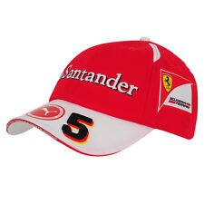 OFFICIAL Scuderia Ferrari Puma F1 Vettel #5 Baseball Cap Hat Red - NEW