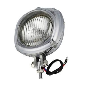 4-034-Headlight-Clear-Lens-Electroline-Bronze-For-Harley-Cross-Bones-Breakout-Dyna