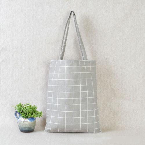 Fashion Eco Shopping Cotton Linen Tote Handbag Canvas Purse Pouch Shoulder Bag