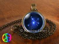Astrology Sagittarius Constellation Stars Jewelry Necklace Pendant Charm Gift