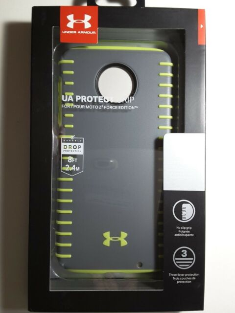 uk availability 5ea61 3ed3f 2 Cases - Under Armour UA Protect for Moto Z2 Force Edition Graphite  Quirkylime