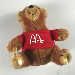 McDonalds-Plush-Bear-VTG-Crown-Window-Suction-Shirt-Cute-Cuddly-Small-8-034-Toy