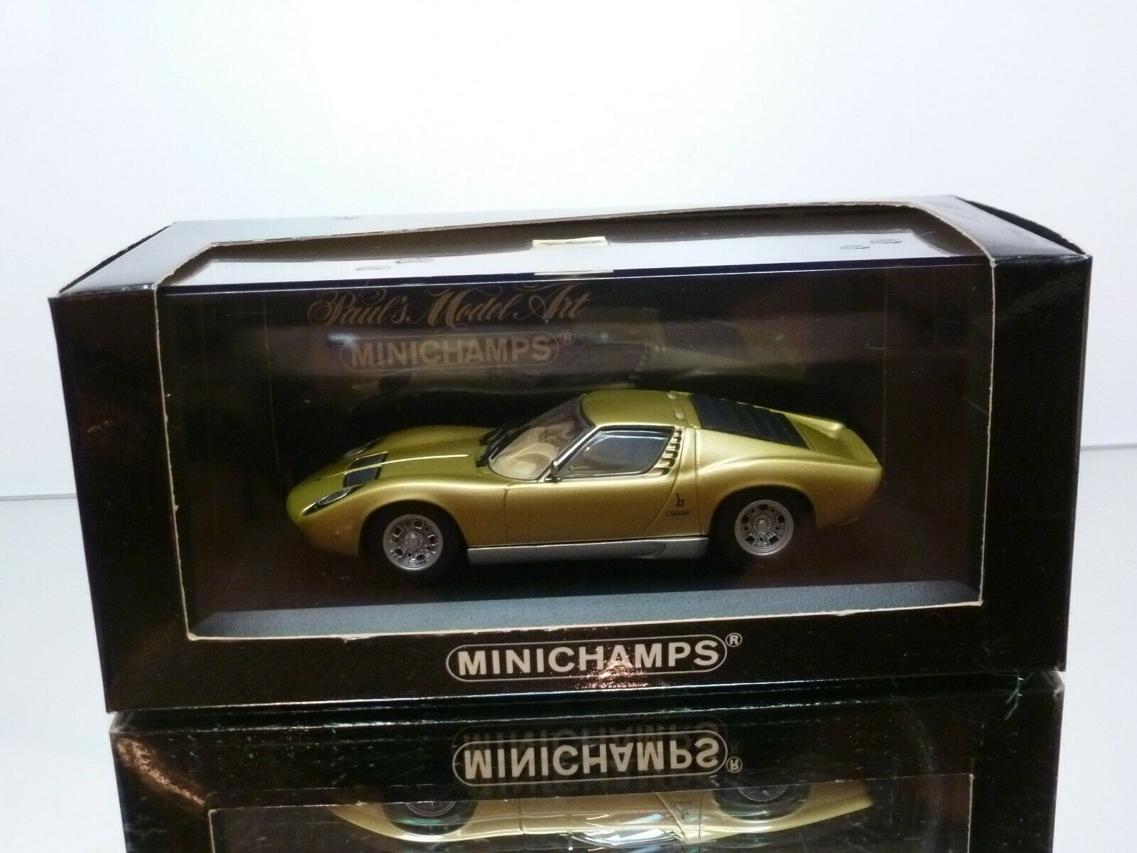 MINICHAMPS 103001 LAMBORGHINI MIURA - oro 1 43 - EXCELLENT IN BOX