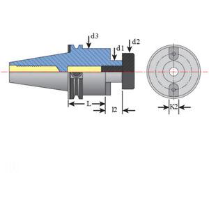 "Techniks 1-1//2/"" CAT40 DualDRIVE Face Mill Arbor x 2.21/"" Length"