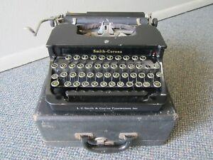 ANTIQUE 1930S SMITH CORONA STANDARD FLAT TOP FLOATING SHIFT PORTABLE TYPEWRITER