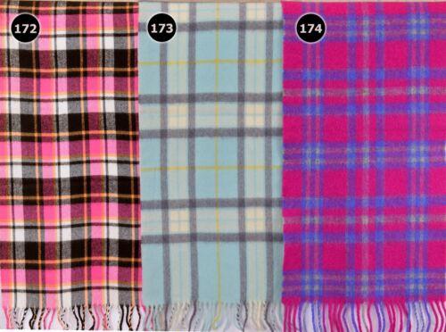 TARTAN SCARF Soft Touch Plaid Check Shawl Acrylic Wool Woollen Scotland 172-174