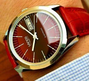 Lanco Swiss Electronic Date Day Watch Vintage Ref 99511 cal ESA ETA 9158 WORKING