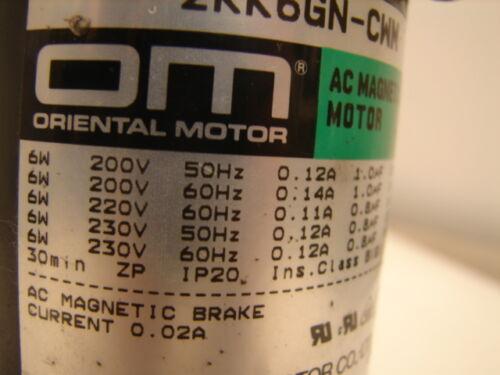 ORIENTAL MOTOR 2RK6GN-CWM W//2LB5ON-2 LINEAR HEAD ***XLNT***