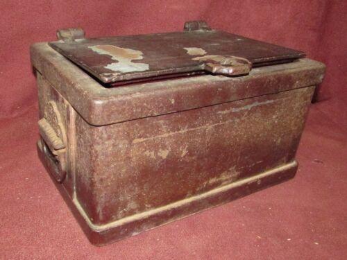 Antique Strong Box Safe Iron