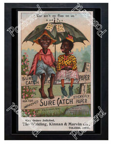 Historic-Sure-Catch-fly-paper-Advertising-Postcard