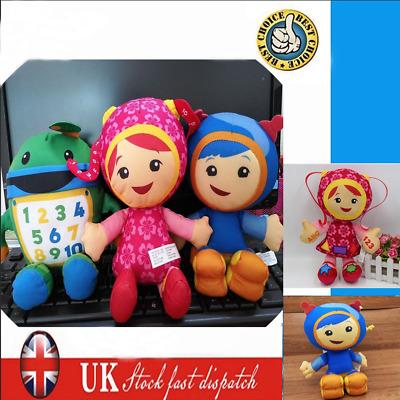3pc Set Team Umizoomi Bot Milli Geo Plush 9 Inch Doll Kids Toy Uk Christmas Ebay