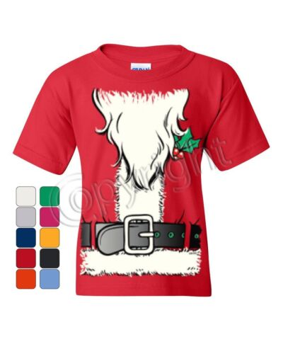 Santa/'s Jacket Youth T-Shirt Santa Claus Christmas Xmas Kids Tee