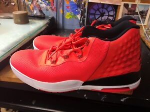 sports shoes b8f35 15d10 Image is loading Nike-Jordan-Academy-Infrared-23-Black-White-Size-