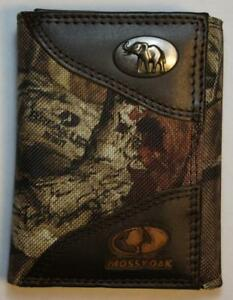 ZEP PRO LSU Tigers Mossy Oak Camo Trifold Leather /& Nylon Wallet TIN GIFT BOX