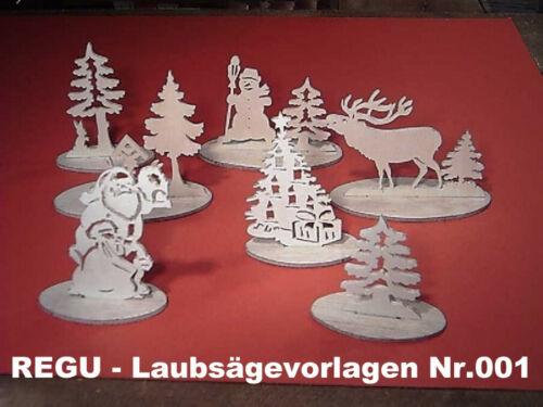 """für /"""" erzgebirgische Weihnachtsdekoration /"""" 1 REGU Laubsägevorlagen Nr.001"""