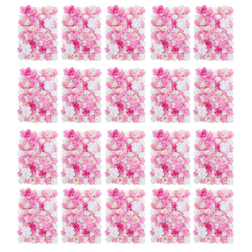 20 pezzi di fiori artificiali da parete decorazione matrimonio matrimoni