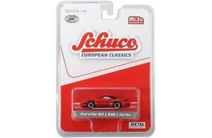 Schuco-8900-European-Classics-1-64-Porsche-911-930-Turbo-Red-Diecast-Car