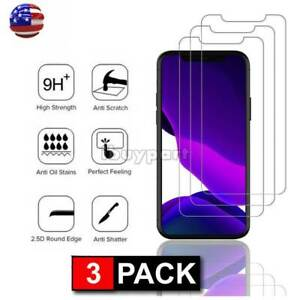 3-Pack-For-iPhone-11-Pro-11-Pro-Max-X-Xs-Max-XR-Tempered-Glass-Screen-Protector