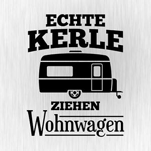 ECHTE-KERLE-ZIEHEN-WOHNWAGEN-Camping-Schwarz-Auto-Vinyl-Decal-Sticker-Aufkleber