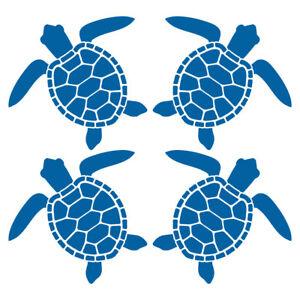 SCHILDKROTEN-AUFKLEBER-Maritim-Deko-Sticker-Bad-Fliesen-Meeresschildkroete-Moebel