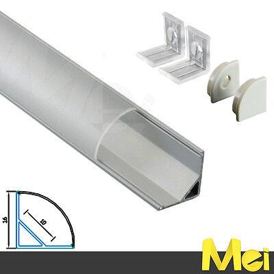 J011 BARRA\PROFILO alluminio ANGOLARE per striscia barra LED 5630 5050 3528