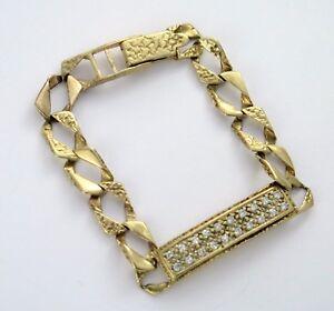 9ct 9k 375 Gold Bracelet For Child Curb Link Unisex Hallmarked   eBay 580bdd9032fa