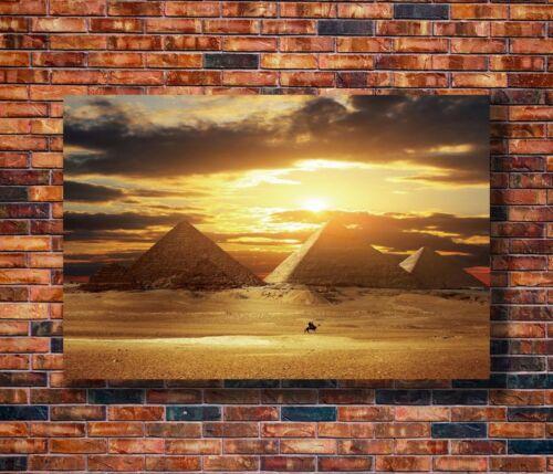 T2037 20x30 24x36 Silk Poster Egyptian Pyramids Sunset Art Print