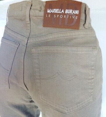 Avere Una Mente Inquisitrice Jeans Donna Dritti Taglia W 29 = 42 L 31 Mariella Burani Le Sportive Rrp € 120